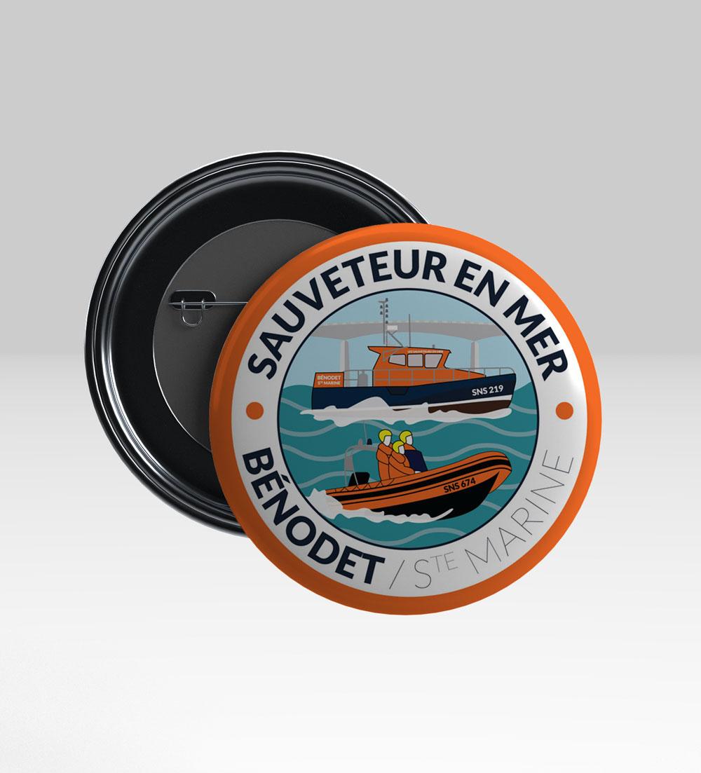 Badge SNSM Bénodet/Sainte-Marine