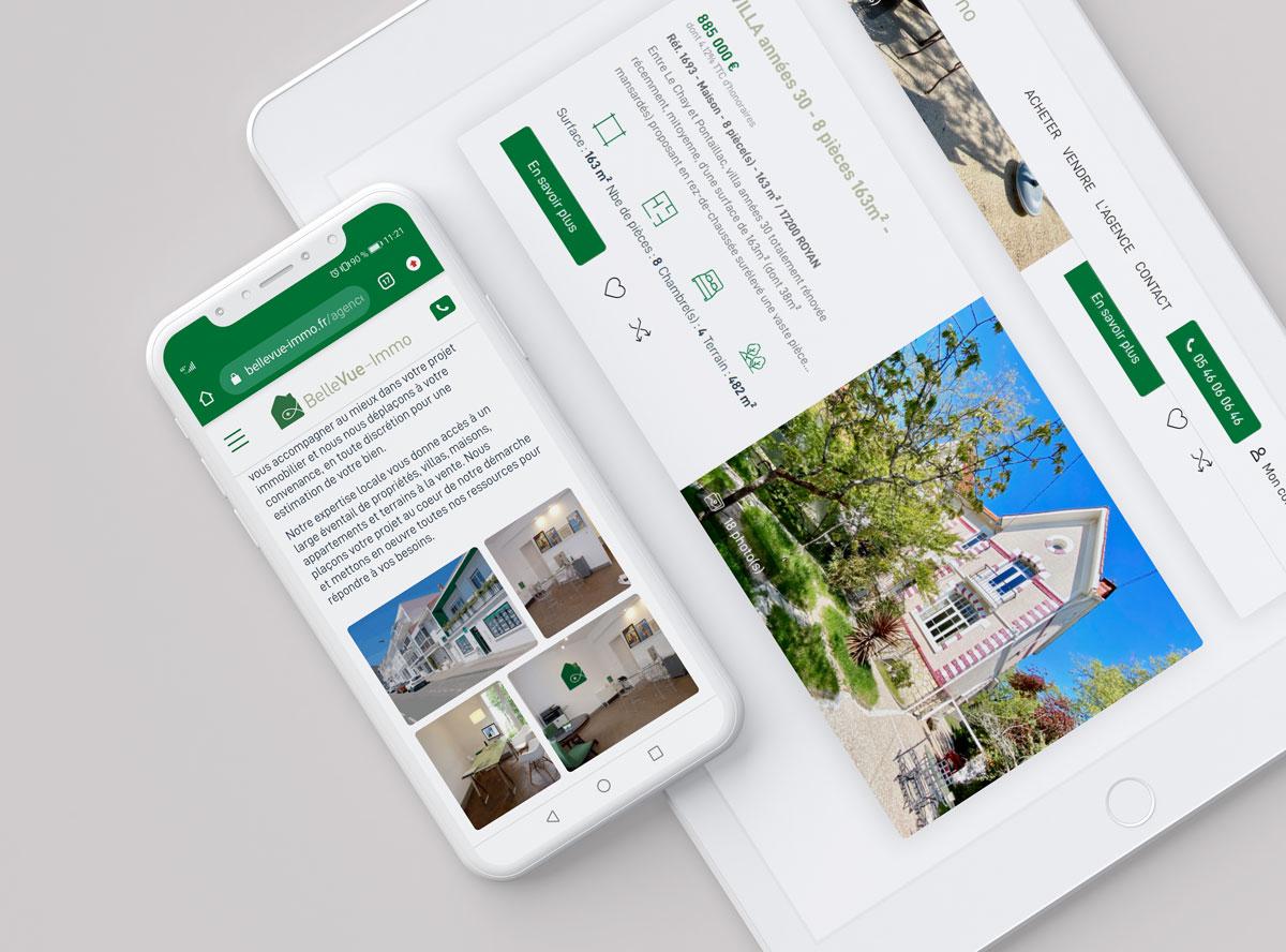 Webdesign site internet immobilier