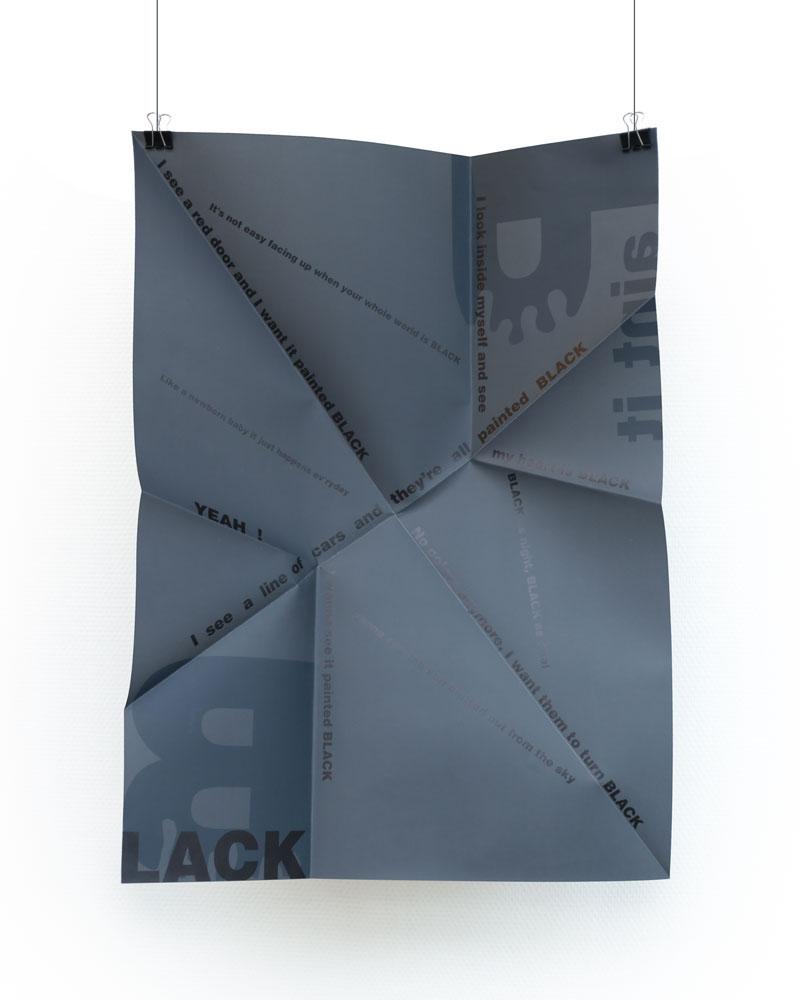 Affiche origami - Paint it Black