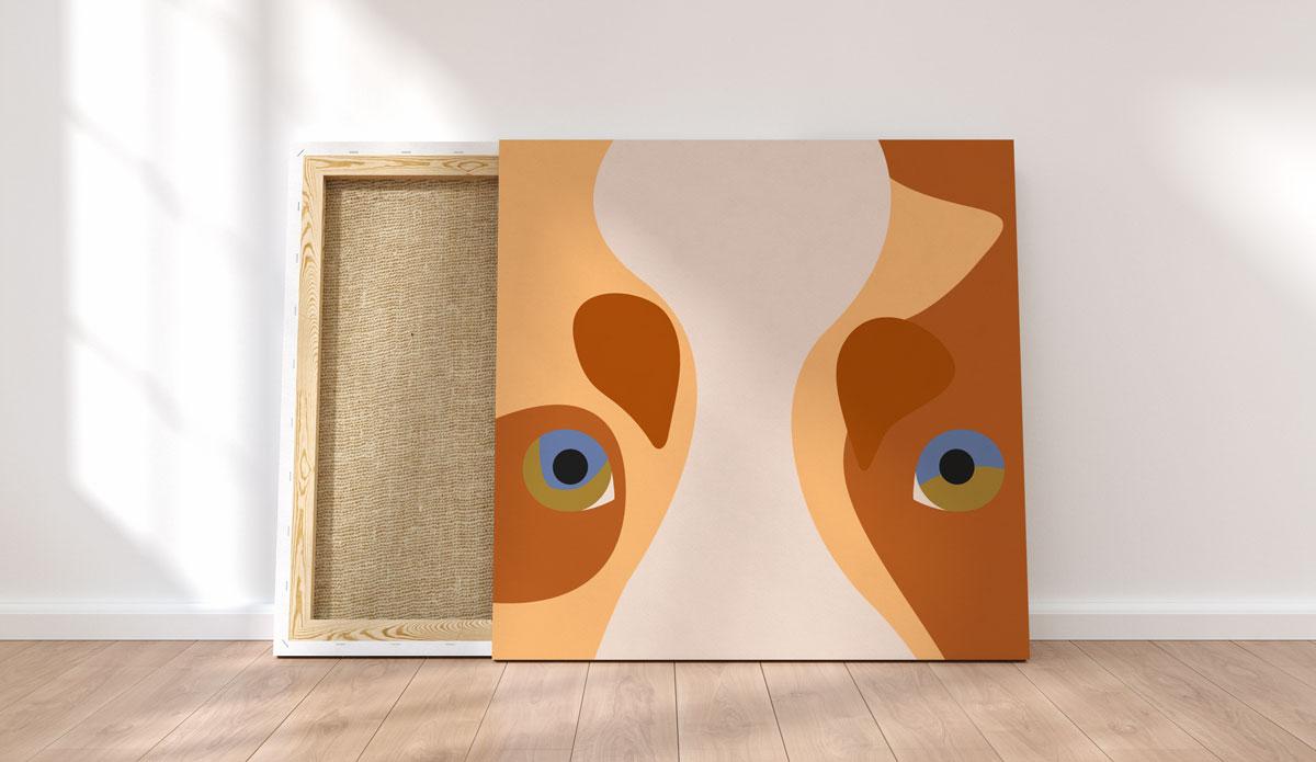 Création illustration en flat design minimaliste