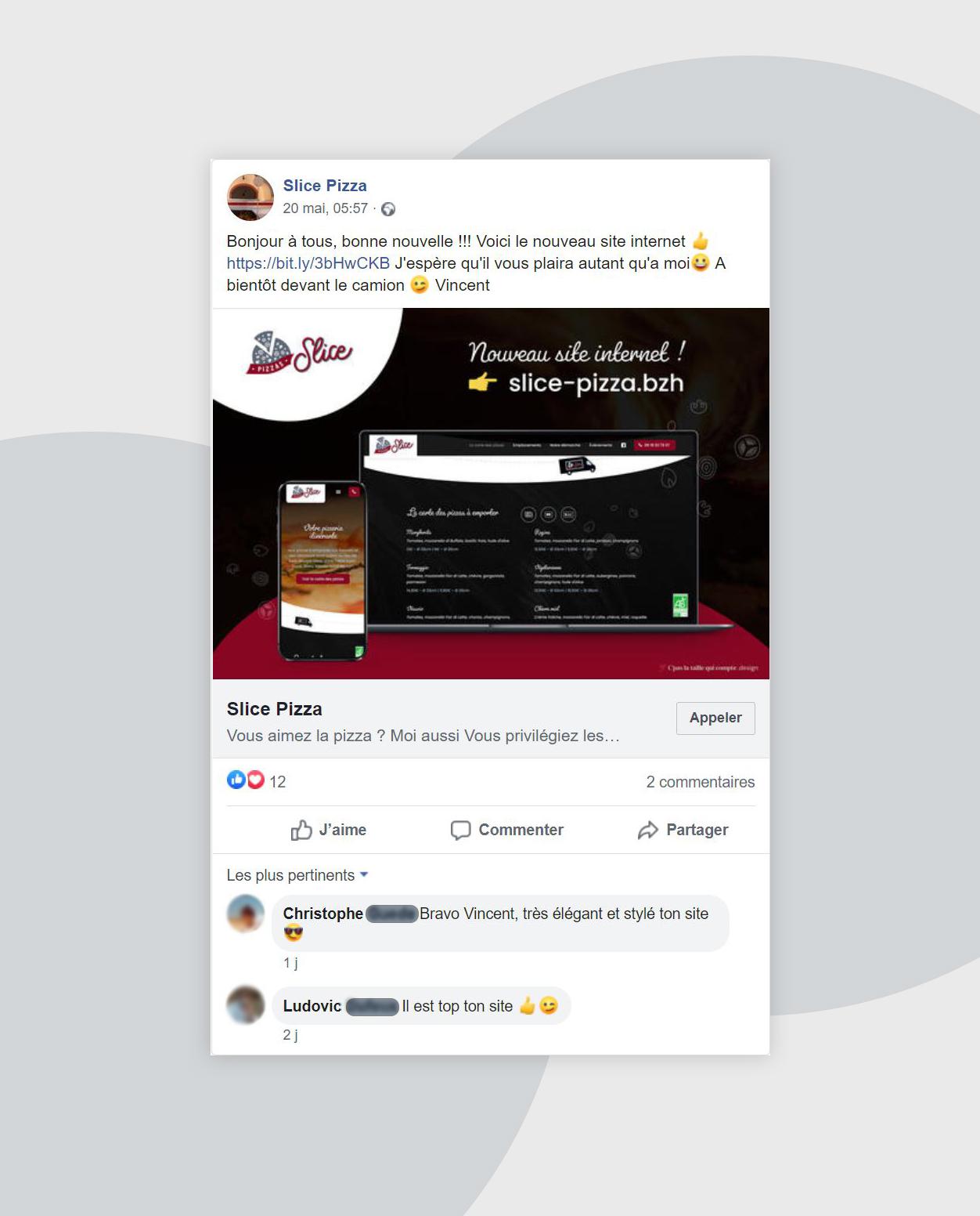 Création site internet food-truck pizzas
