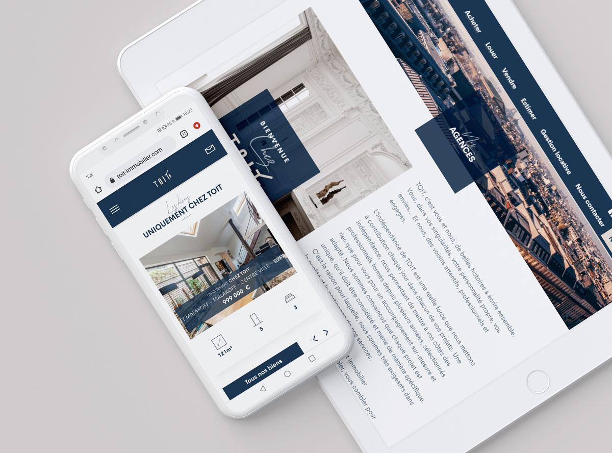 Création design site internet immobilier