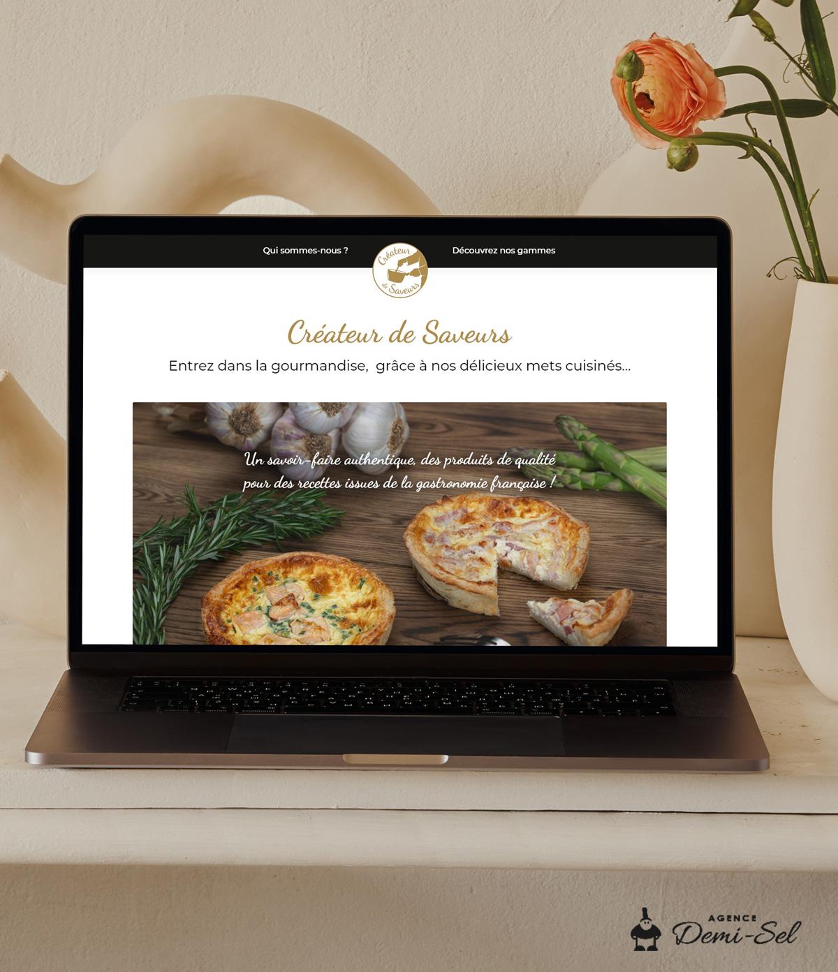 Webdesign site traiteur