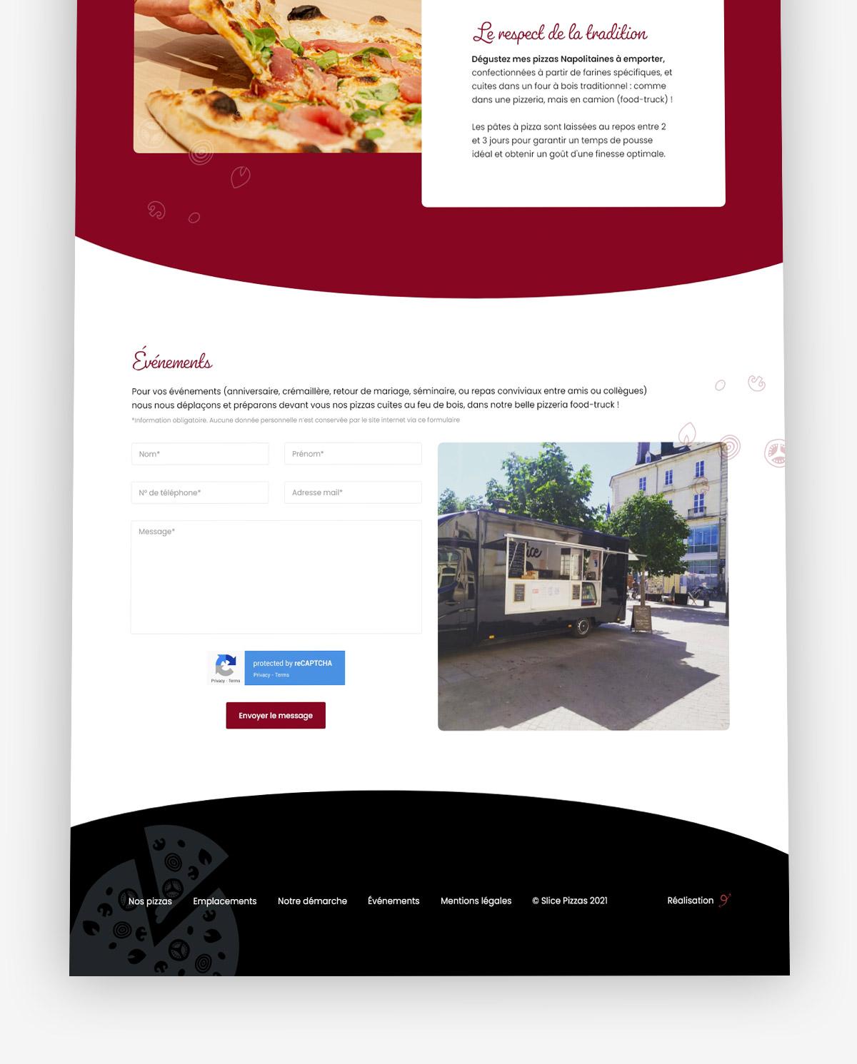 Création site internet pizzeria